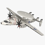 Grumman E-2 Hawkeye Tactical Early Warning Aircraft Rigged. Preview 1