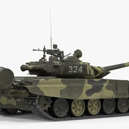 T72 Main Battle Tank Camo Rigged. Preview 7