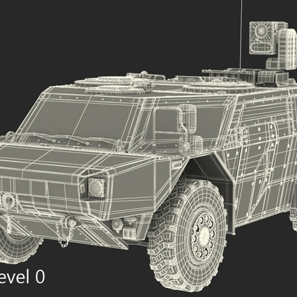 Fennek German Reconnaissance Vehicle Rigged. Render 29