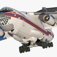 Ilyushin Il-76 Emergency Russian Air Force Rigged. Preview 11