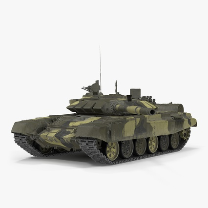 T72 Main Battle Tank Camo Rigged. Render 1