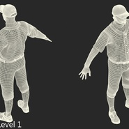 Baseball Player Rigged Athletics for Cinema 4D. Preview 22