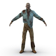 Zombie Rigged for Cinema 4D. Preview 19