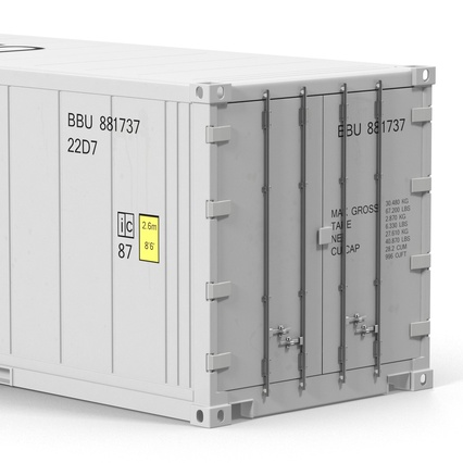 ISO Refrigerated Container. Render 18