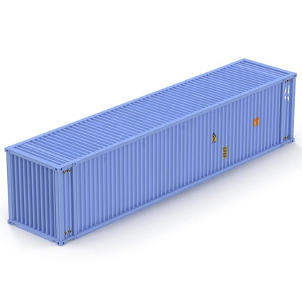 45 ft High Cube Container Blue. Render 13