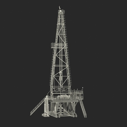Fracking Gas Platform. Render 43