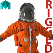 US Advanced Crew Escape Suit ACES Rigged for Maya