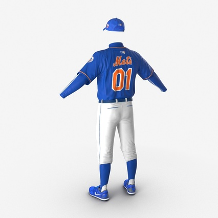 Baseball Player Outfit Mets 2. Render 12