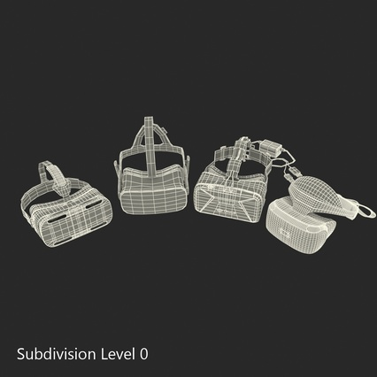 Virtual Reality Goggles Collection. Render 79