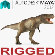Tyrannosaurus Rex Rigged for Maya. Preview 1