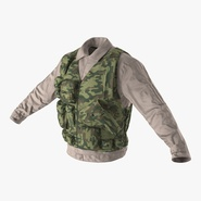 Military Shirt and Camouflage Vest