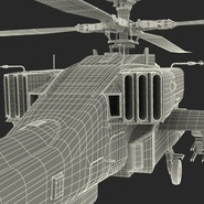 AH-64D Apache Longbow Japan Rigged. Preview 31