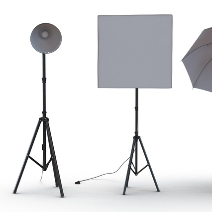 Photo Studio Lamps Collection. Render 13