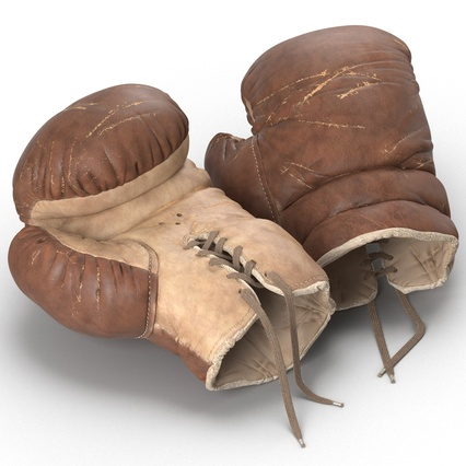 Old Leather Boxing Glove(1). Render 16