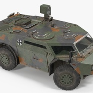 Fennek German Reconnaissance Vehicle Rigged. Preview 14