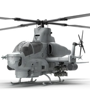 Attack Helicopter Bell AH 1Z Viper Rigged. Preview 37