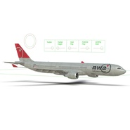 Jet Airliner Airbus A330-300 Northwest Airlines Rigged. Preview 50