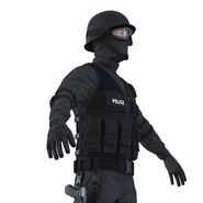 SWAT Man Mediterranean Rigged for Cinema 4D. Preview 20