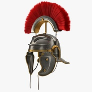 Roman Helmet with Red Crest