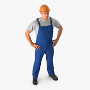 Construction Worker with Hardhat Standing Pose. Preview 2