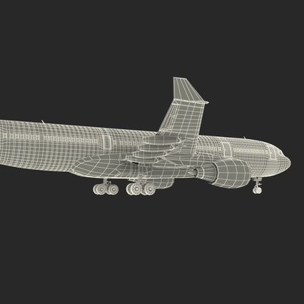 Jet Airliner Airbus A330-200 Northwest Airlines Rigged. Render 66