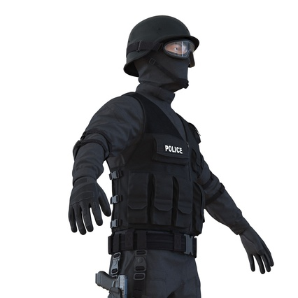 SWAT Man Mediterranean Rigged for Maya. Render 20