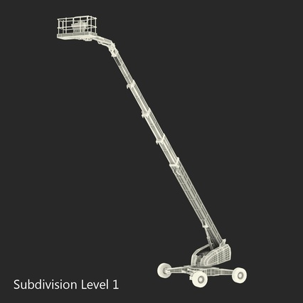 Telescopic Boom Lift Generic 4 Pose 2. Render 67
