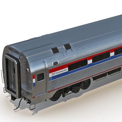 Railroad Amtrak Passenger Car 2. Render 19