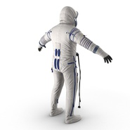 Russian Astronaut Wearing Space Suit Sokol KV2 Rigged for Maya. Preview 11