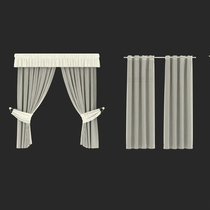 Curtains Collection. Render 76