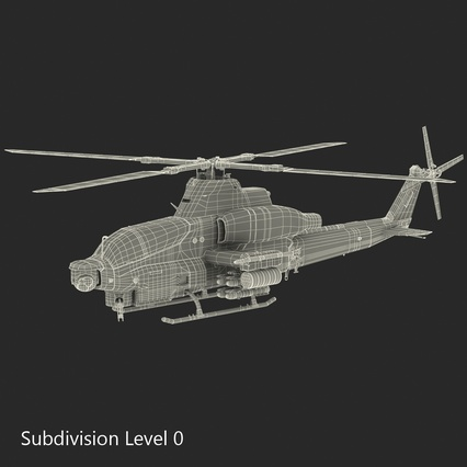 Attack Helicopter Bell AH 1Z Viper Rigged. Render 85
