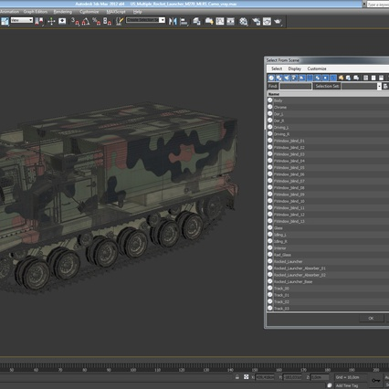 US Multiple Rocket Launcher M270 MLRS Camo. Render 25