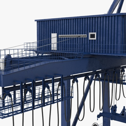 Container Crane Blue. Render 24