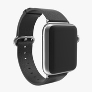 Apple Watch 38mm Classic Buckle Black Leather Stainless Steel