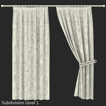 Curtains Collection. Render 57