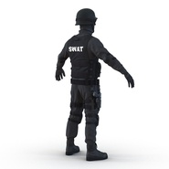SWAT Man Mediterranean Rigged for Cinema 4D. Preview 13
