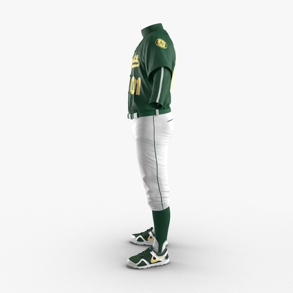 Baseball Player Outfit Athletics 3. Render 6