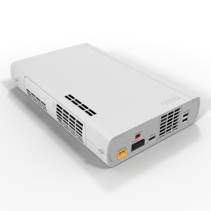 Nintendo Wii U Set White. Render 22
