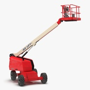 Telescopic Boom Lift JLG Red Rigged