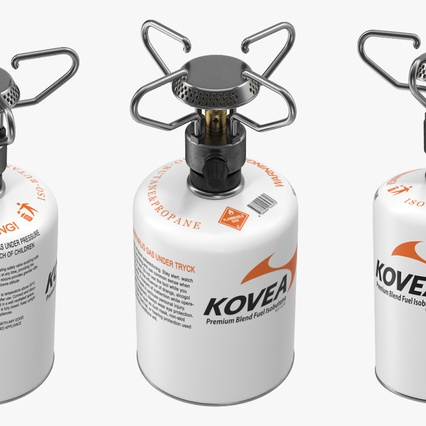 Gas Cylinder with Camping Stove Kovea. Render 9