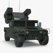 HMMWV M998 Equipped with Avenger Simple Interior