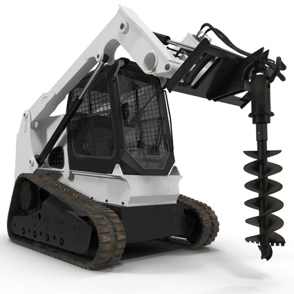 Compact Tracked Loader with Auger. Render 7