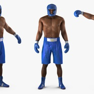 African American Boxer Rigged for Cinema 4D. Preview 10