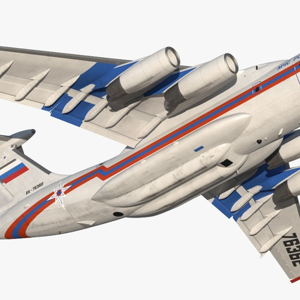 Ilyushin Il-76 Emergency Russian Air Force Rigged. Render 14