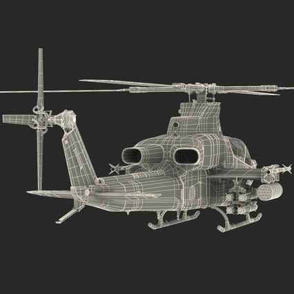 Attack Helicopter Bell AH 1Z Viper Rigged. Render 94