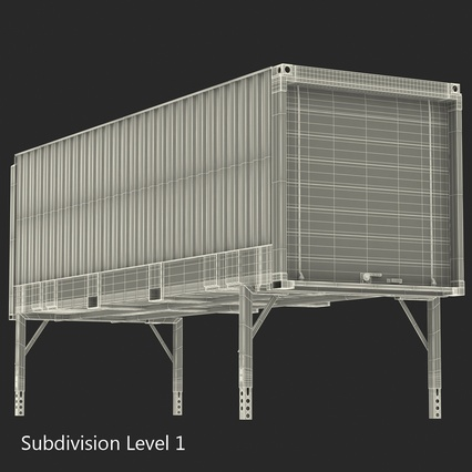 Swap Body Container ISO Blue. Render 22