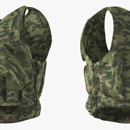 Military Camouflage Vest. Render 7