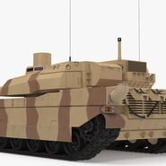 French Army Tank AMX-56 Leclerc Rigged. Preview 6