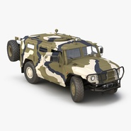 Infantry Mobility Vehicle GAZ Tigr M Rigged