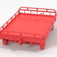 Airport Transport Trailer Low Bed Platform with Container Rigged. Preview 24